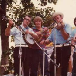 Whit Sizemore and the Shady Mountain Ramblers, Mike Kline, and Levi Gross at Seedtime, 1989