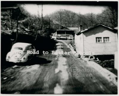 Film still of title card from The Struggle of Coon Branch Mountain
