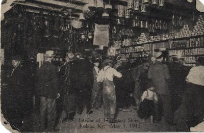 Interior of Temporary Store - Jenkins, Ky. - May 15, 1912.