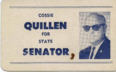 Cossie Quillen political campaign cards
