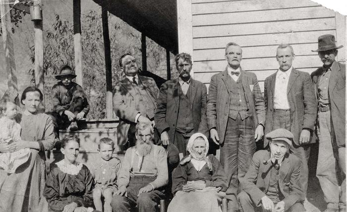 Large group of people posing for photo