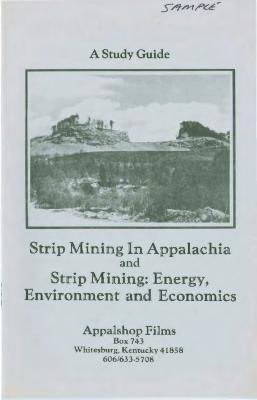 Study Guide for two strip mining films