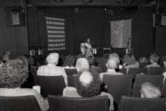 Sheila Barnhill [Sheila Kay Adams] and audience at Seedtime Festival