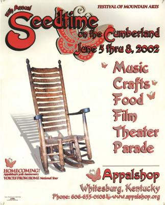Seedtime on the Cumberland Festival poster, 2002