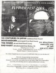 "Youth Bored flyer: ""Flyover Fest 2003"""