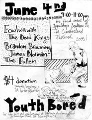 "Youth Bored Flyer: ""June 4nd"""