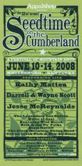 Seedtime on the Cumberland Festival poster, 2008