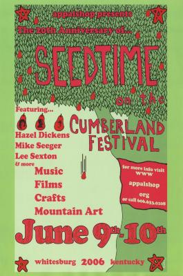 Seedtime on the Cumberland Festival poster, 2006