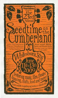 Seedtime on the Cumberland Festival poster, 2009