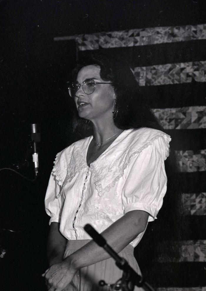 Sheila Barnhill [Sheila Kay Adams] performing at Seedtime Festival