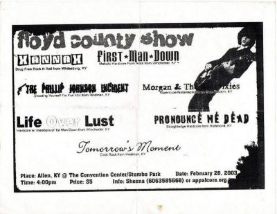 "Youth Bored Flyer, ""Floyd County Show"""