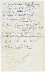 Recipe for Plum Good Cake