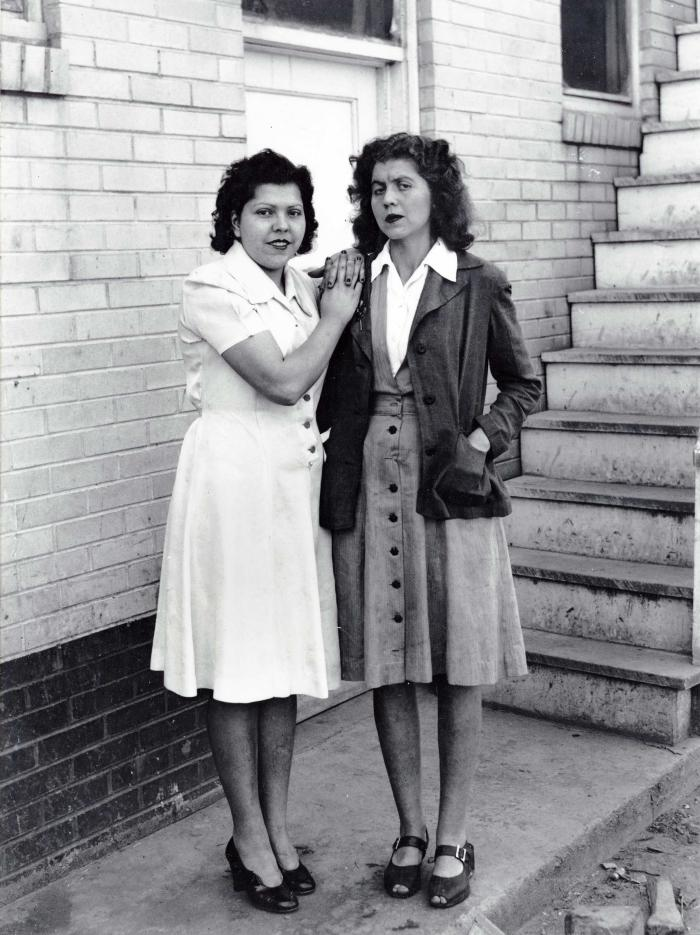 Exterior portrait of two women