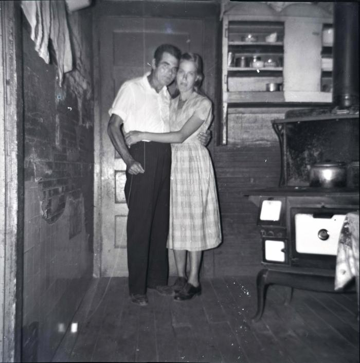 Self-portrait of Chester Cornett and his wife Ruth, standing pose