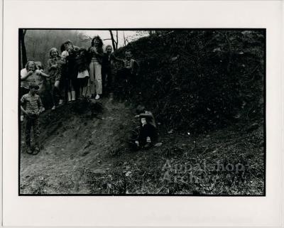 Production still of children playing - The Struggle of Coon Branch Mountain