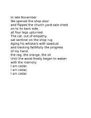 Cat Poem, November