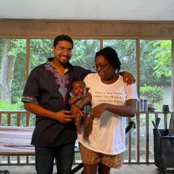 Baby shower and support from friends during Covid; excerpt from interview with Josh Outsey and Terran Young