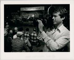 Director Scott Faulkner with camera at the Carter Fold